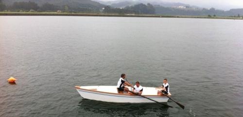 Chalano en la regata de San Esteban. Verano 2013