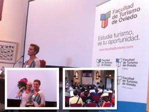 Matilde de Torres Villagrá, durante su presentación en  el auditorio Tito Fernández de San Esteban